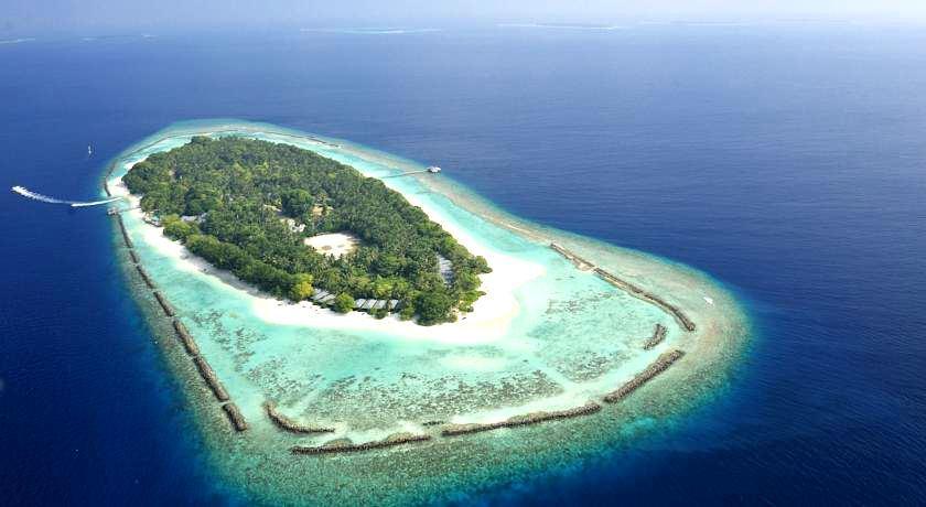 皇家岛 Royal Island Resort 鸟瞰地图birdview map清晰版 马尔代夫