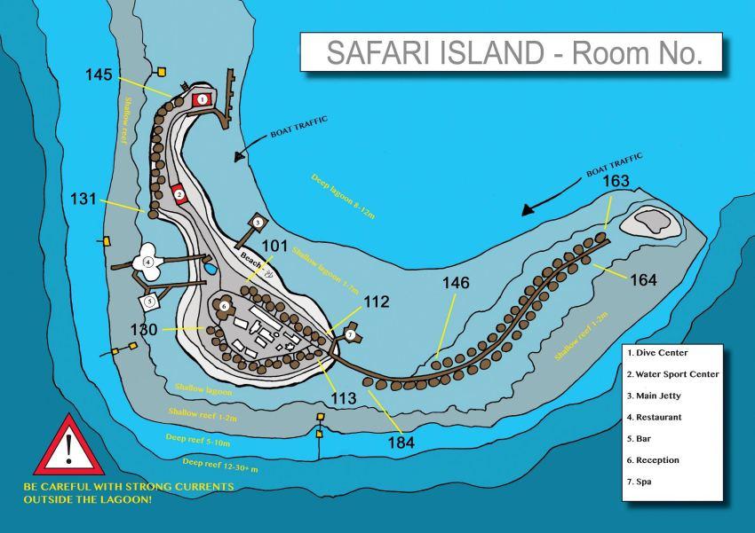 马尔代夫 萨芙莉岛 Safari Island 平面地图查看