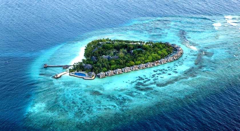 泰姬珊瑚岛 Taj Coral Reef Resort 鸟瞰地图birdview map清晰版 马尔代夫