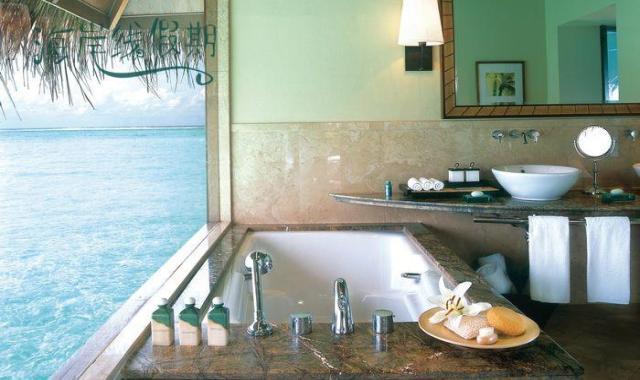 房型内部设施图片参考,如无边泳池与电视及音响, 泻湖别墅-Lagoon Villas maldievs(泰姬珍品岛|泰姬魅力 Taj Exotica)
