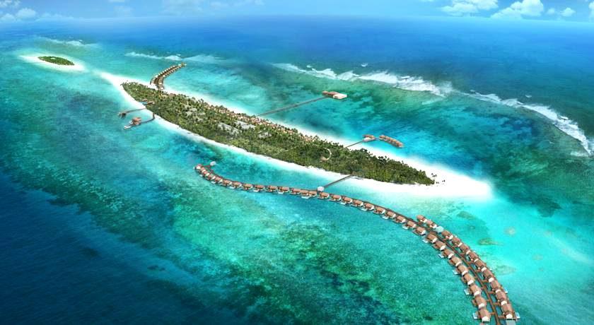瑞喜登|瑞喜敦 The Residence 鸟瞰地图birdview map清晰版 马尔代夫