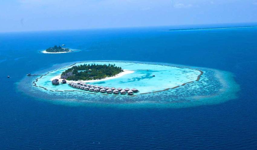 蕉叶岛 Vakarufalhi Maldives 鸟瞰地图birdview map清晰版 马尔代夫