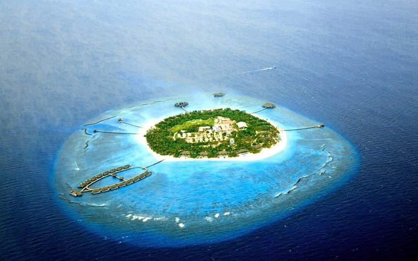 维拉私人岛 Velaa Private Island 鸟瞰地图birdview map清晰版 马尔代夫