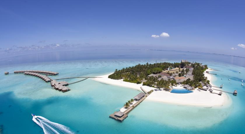 薇拉莎露岛|蔚蓝沙鲁岛 Velassaru 鸟瞰地图birdview map清晰版 马尔代夫