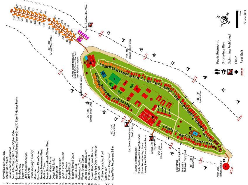 马尔代夫 维拉曼豪(多) Vilamendhoo 平面地图查看