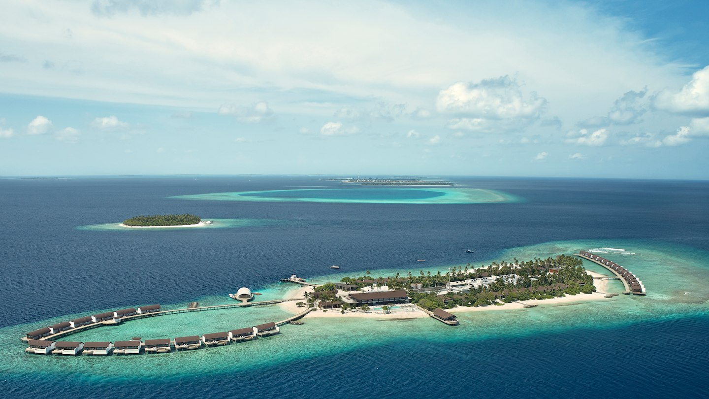 威斯汀 The Westin Maldives Miriandhoo Resort 鸟瞰地图birdview map清晰版 马尔代夫