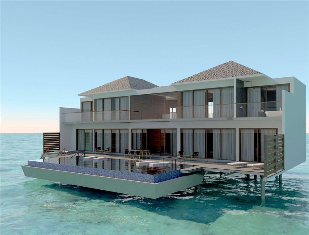 Two Bedroom Family Beach Pool Villa-双卧室家庭海滩泳池别墅 房型图片及房间装修风格(丽笙度假酒店 Radisson Blu Resort Maldive)海岛马尔代夫