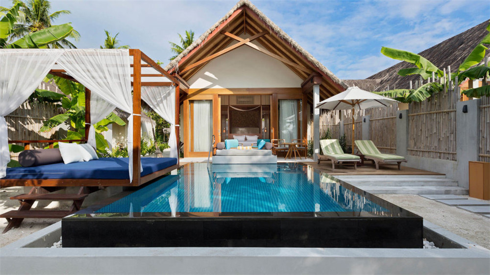 高级泳池别墅-Beach Pool Villas 房型图片及房间装修风格(芙拉薇莉岛 Furaveri Island Resort and Spa)海岛马尔代夫