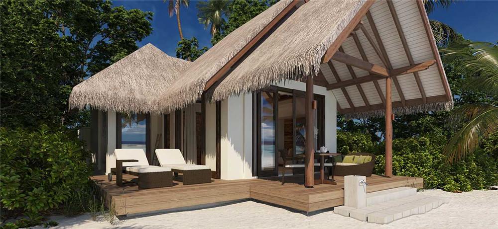 Beach Villa-海滩别墅 房型图片及房间装修风格(海瑞坦斯阿拉岛 Heritance Aarah Maldives Luxury Resort)海岛马尔代夫