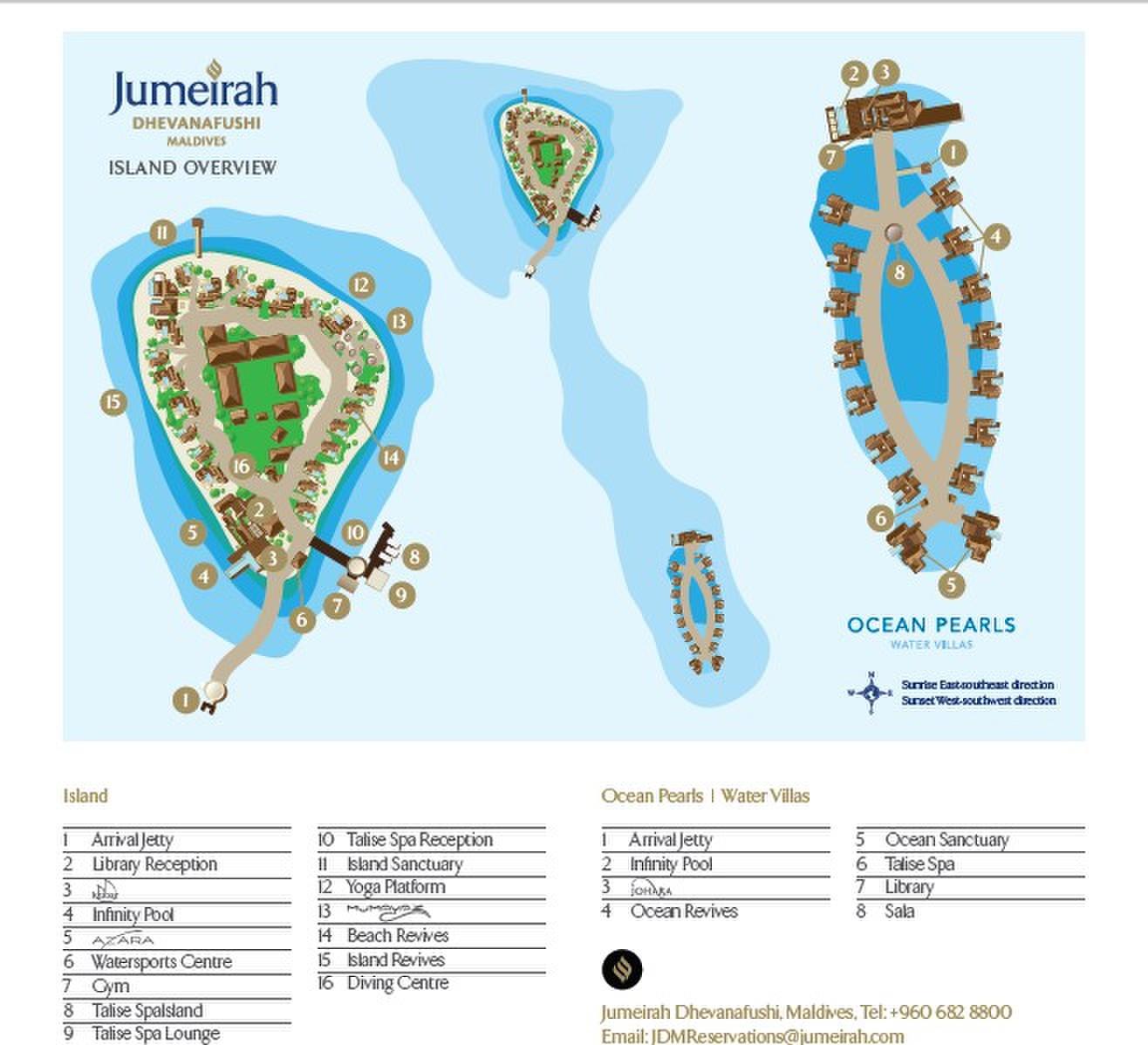 马尔代夫 莱佛士梅拉德岛 Raffles Maldives Meradhoo 平面地图查看
