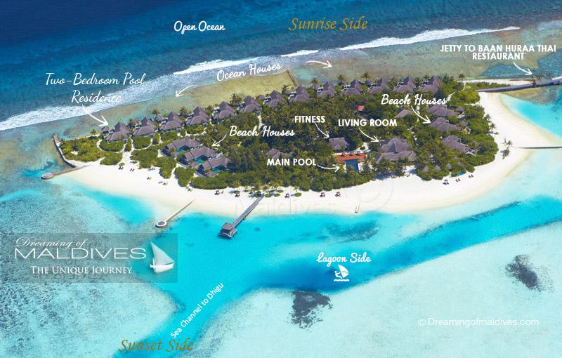 娜拉杜岛 Naladhu Private Island Maldives 鸟瞰地图birdview map清晰版 马尔代夫